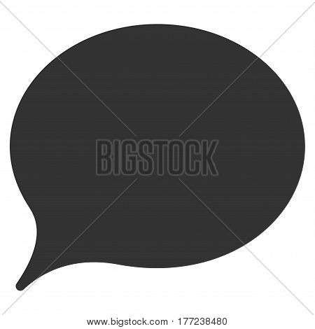 Hint Balloon vector icon. Flat gray symbol. Pictogram is isolated on a white background. Designed for web and software interfaces.