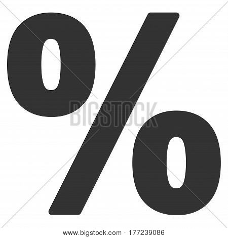Percent vector icon. Flat gray symbol. Pictogram is isolated on a white background. Designed for web and software interfaces.