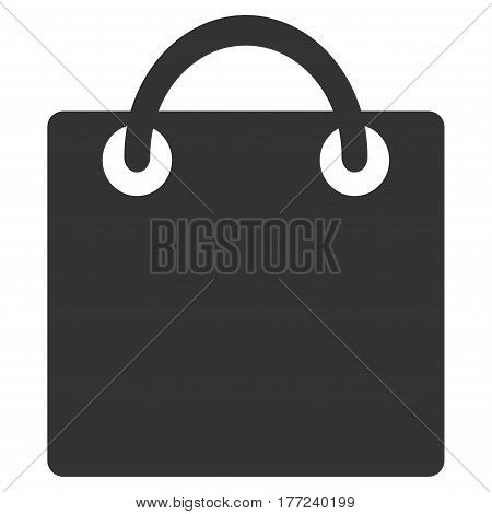 Shopping Bag vector icon. Flat gray symbol. Pictogram is isolated on a white background. Designed for web and software interfaces.