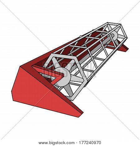 Metal attachment to the tractor for the harvest. Modern agricultural machinery.Agricultural Machinery single icon in cartoon style vector symbol stock web illustration.