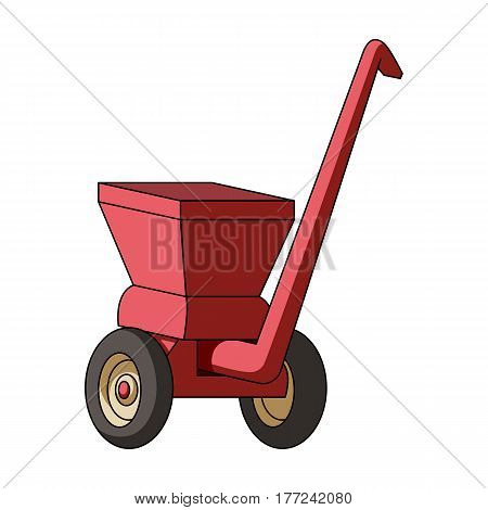 Agricultural Machinery .The machine for cutting agricultural hay.Agricultural Machinery single icon in cartoon style vector symbol stock web illustration.