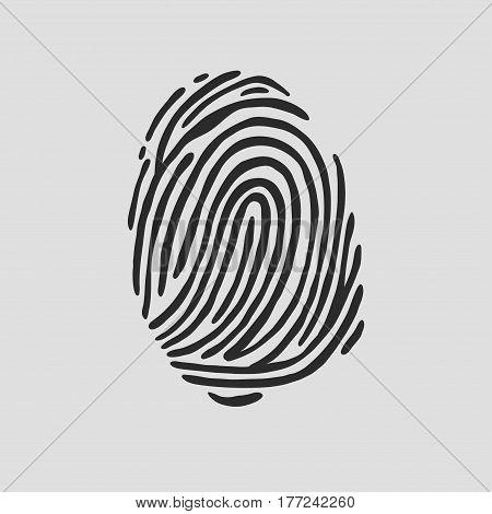Thumb print fingerprint vector illustration eps 10