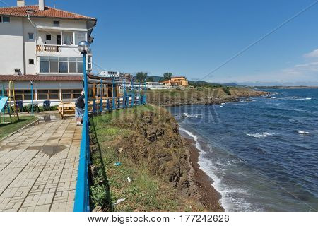 AHTOPOL, BULGARIA - JUNE 30, 2013: Panorama of coastline of town of Ahtopol,  Burgas Region, Bulgaria
