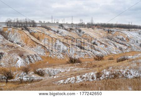 Soil erosion in Ukraine - winter version.