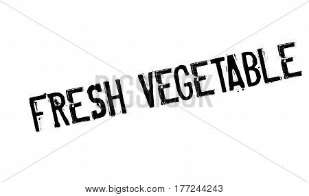 Fresh vegetable stamp. Grunge design with dust scratches. Effects can be easily removed for a clean, crisp look. Color is easily changed.