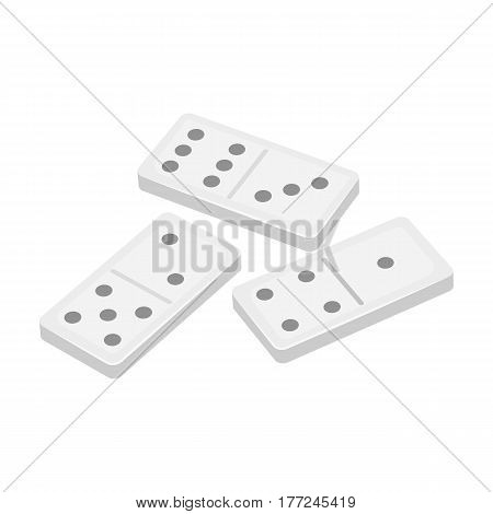 Dominoes for playing in the casino. Gambling for money.Kasino single icon in cartoon style vector symbol stock web illustration.