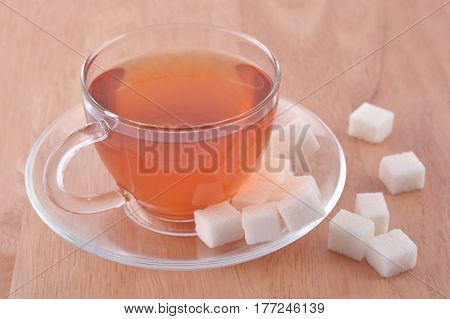 Cup Of Tea And Refined Sugar