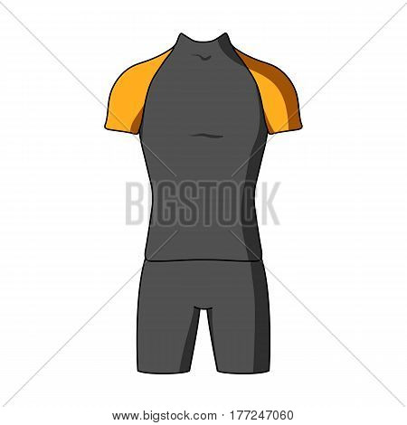 A cycling suit for riding a bicycle. Clothes cycling.Cyclist outfit single icon in cartoon style vector symbol stock web illustration.
