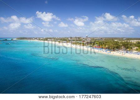 Panorama of Grand Turk Island the Caribbeans