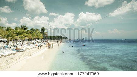 Beach on Cozumel Island, Quintana Roo, Mexico