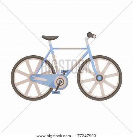 Sport bike racing on the track. Speed bike with reinforced wheels.Different Bicycle single icon in cartoon style vector symbol stock web illustration.
