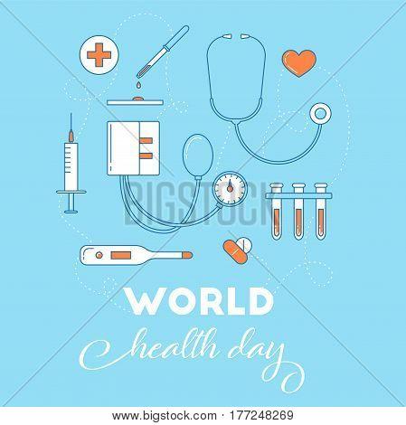 World Health Day Awareness Banner.