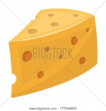 Rustic homemade cheese. Homemade homemade dairy product.Farm and gardening single icon in cartoon style vector symbol stock web illustration.