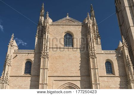Segovia (Castilla y Leon Spain): exterior of the medieval cathedral