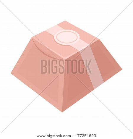 Gift in the form of a pyramid. Gift wrap on holiday.Gifts and Certificates single icon in cartoon style vector symbol stock web illustration.