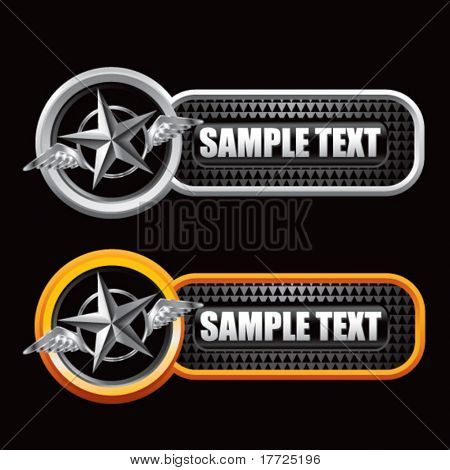 flying silver star black checkered tabs