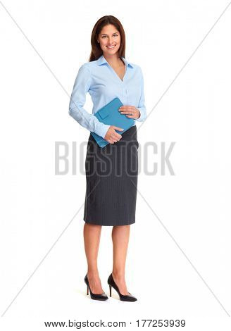 Business woman with folder