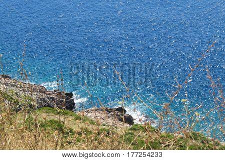 Landscape of Adriatic sea near the Bar-city, Montenegro