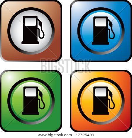 icono de la bomba de gas los iconos de la web de cuadrados de colores