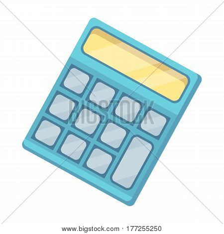 Calculator. Machine to quickly count data. Math .School And Education single icon in cartoon style vector symbol stock web illustration.