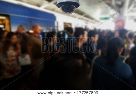 blurred photo, Blurry image, people At station Electric train background