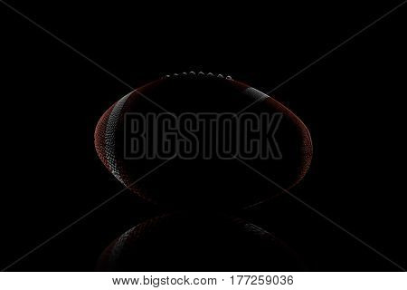 3d rendering of low key rugby ball