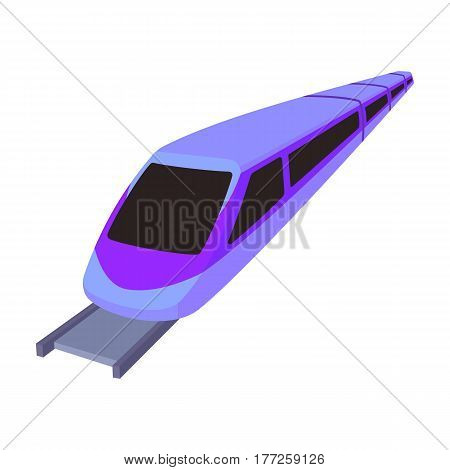High speed train for transporting people over long distances. railway transport.Transport single icon in cartoon style vector symbol stock web illustration.