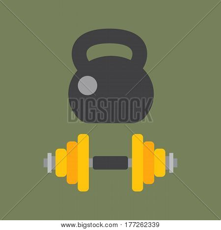 Dumbbells stack lined up rack with metal chrome gym tools center indoor workout activity and heavy equipment health workout vector illustration. Physical work gymnasium pounds.
