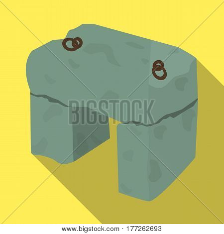 The stone seat.Ancient chair ancient Scots. Scotland country symbol .Scotland single icon in flat style vector symbol stock web illustration.