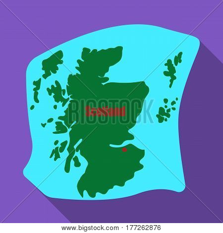 Scotland the map.Scotland is a Country on the world map.Scotland single icon in flat style vector symbol stock web illustration.
