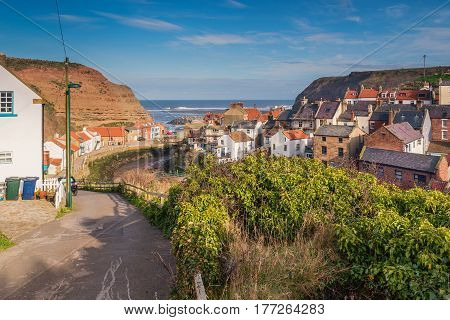 Staithes Beck winds through the Village - Staithes is a pretty seaside village and fishing port on the North Yorkshire coastline and is today an attractive tourist destination