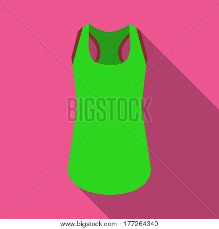Blue Sports Women s T-shirt. sports clothes. Woman clothes single icon in flat style vector symbol stock web illustration.