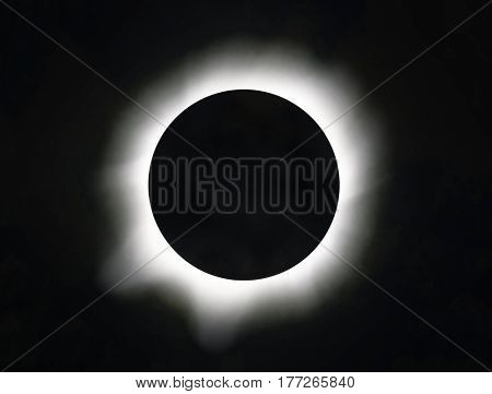 Sun eclipse in the sky