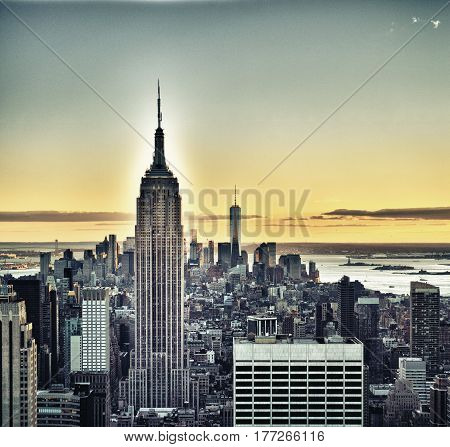 View of the New York City - HDR image.