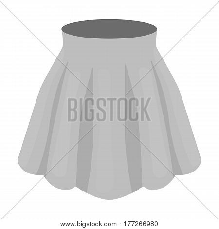 Orange women s light summer skirt with pleats. Beautiful women s summer clothing. Woman clothes single icon in monochrome style vector symbol stock web illustration.