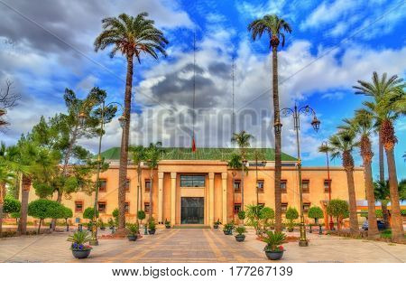 City hall of Marrakesh in the Municipal Palace, Morocco