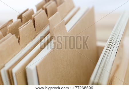 Index Cards With Blank Brown Dividers