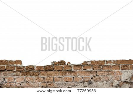 Brick Wall With Blank Space Can Use For Background