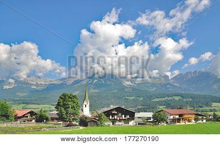 Village of Ellmau am Wilden Kaiser in North Tirol,Alps,Austria