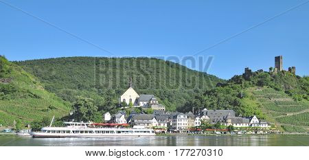 famous Wine Village of Beilstein in Mosel Valley near Cochem,Rhineland-Palatinate,Germany