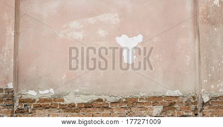 Cracked Concrete Vintage Brick Wall . Can Use For Background