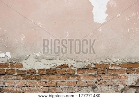 Old Painted Brick Wall . Can Use For Background