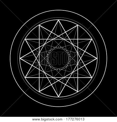 sacred geometry symbol illustration. Vector energy star