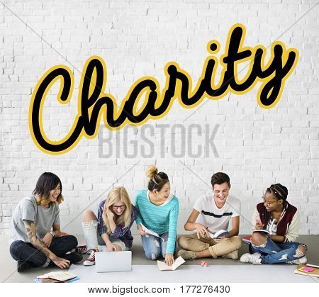 Charity Donation Writing Word Concept