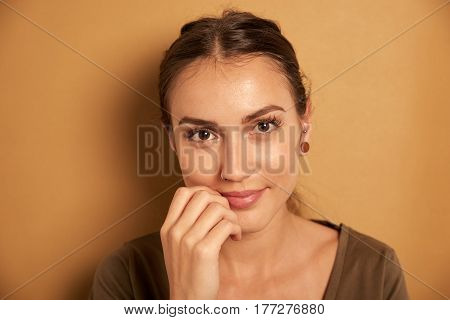 Happy Young Woman Posing For Camera
