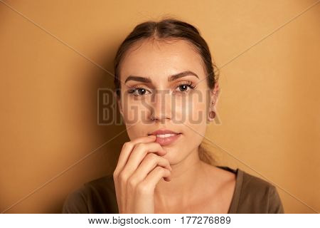 Thoughtful Young Woman Posing For Camera
