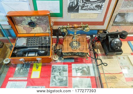 Exhibits Of The Museum Of The History Of The Central Telegraph, Moscow, Russia