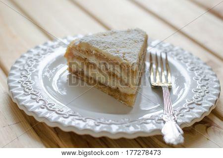 Apple Pie With Semolina On A Vegan
