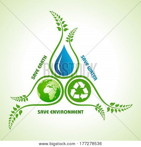 Save earthwater and environment concept stock vector