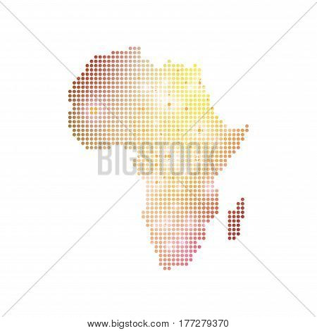 Dotted Africa Map. Geometric graphic background communication. Big data complex with compounds. Digital data visualization. Minimalistic chaotic design, vector illustration